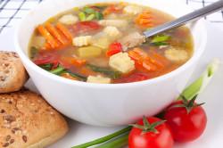 Употребление супов при гастрите